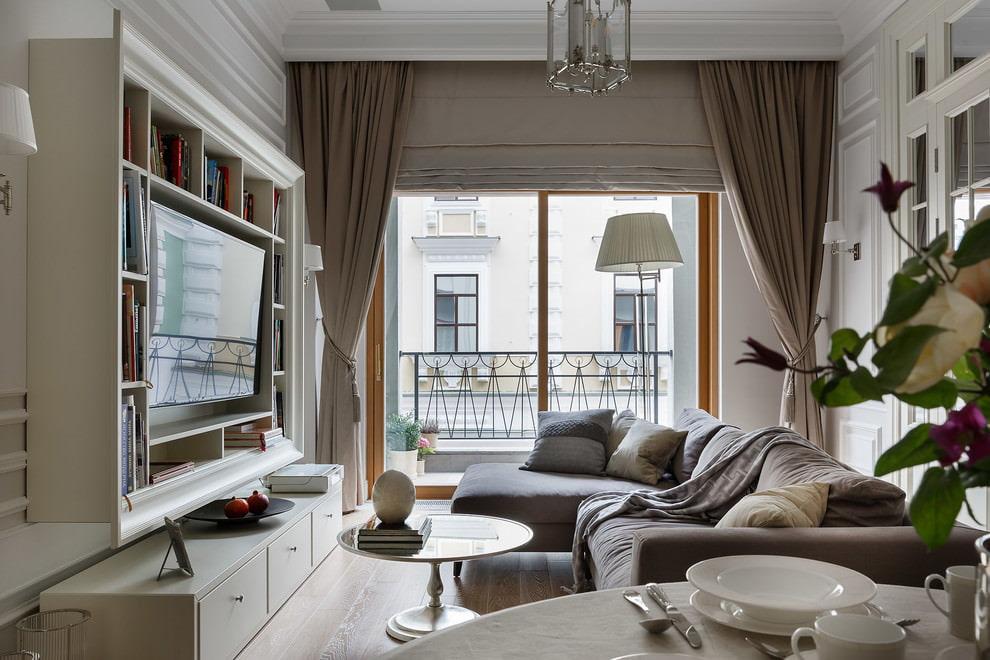 Подвесная мебель в небольшой гостиной комнате
