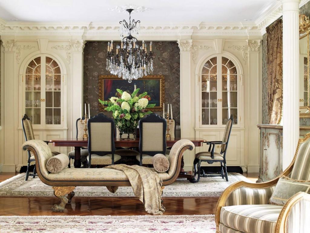 Встроенные шкафы в классической гостиной