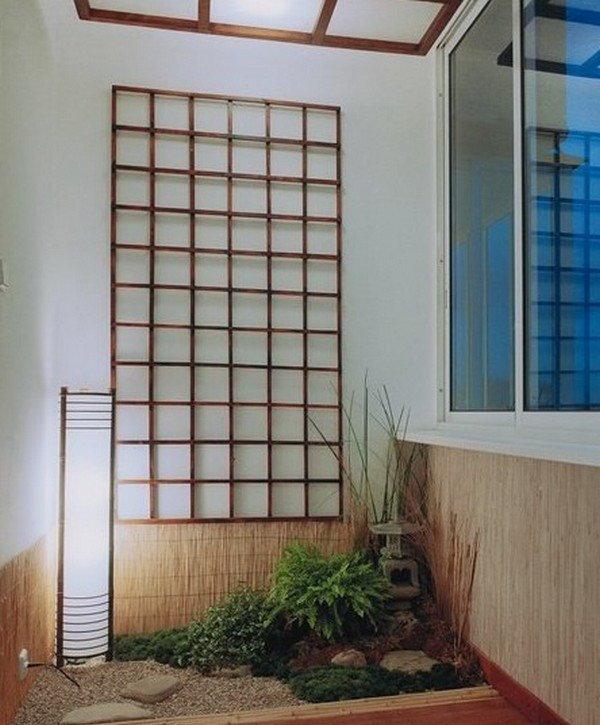 Дизайн небольшого балкона в японском стиле