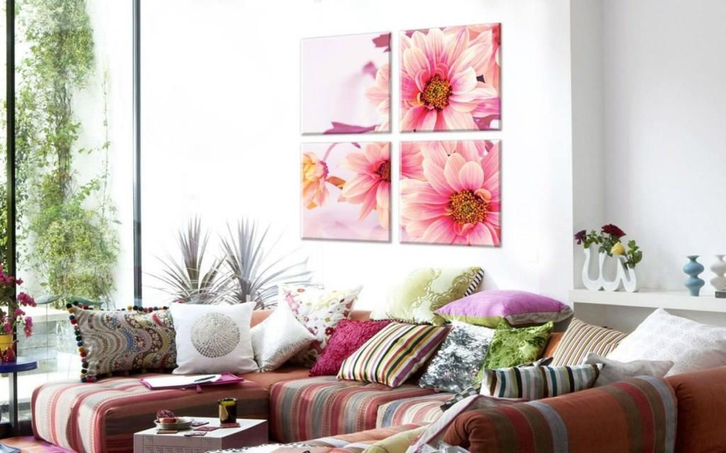 Яркие модульные фрагменты с цветочным рисунком