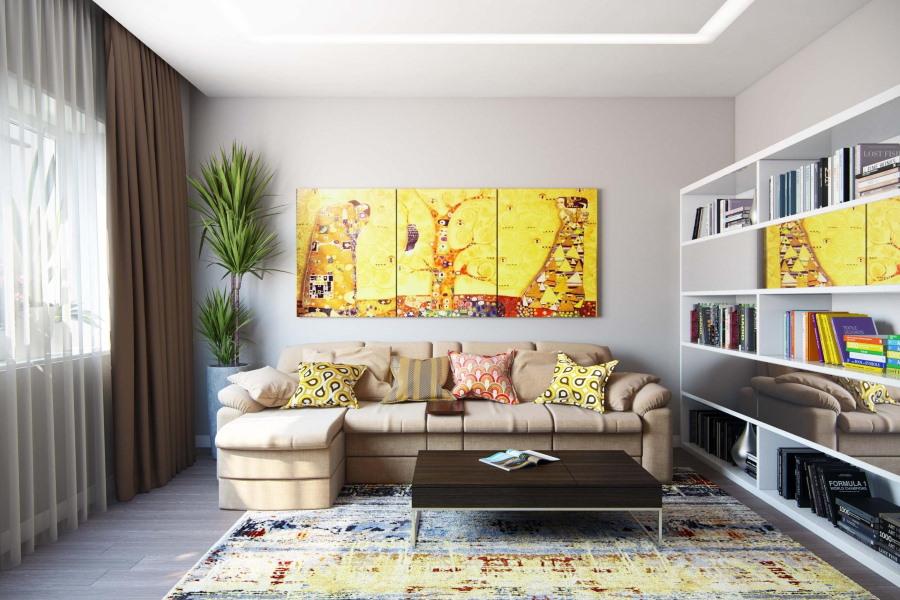 Подбор сюжета для модульной картины в гостиную