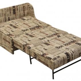 Разложенный диван со спальным местом в гостиную
