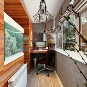 Дизайн балкона с батареей отопления