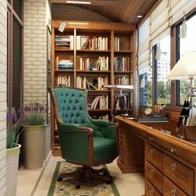 Домашний офис на лоджии с отоплением