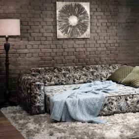 Раскладной диван в стиле лофта