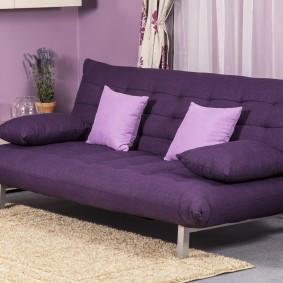 Фиолетовый диван раскладной конструкции