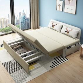 Раскладной диван с отсеком для белья