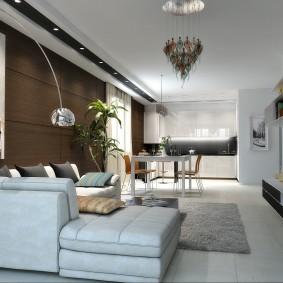 Дизайн гостиной в квартире студийной планировки