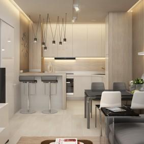 Освещение квартиры-студии с одним окном