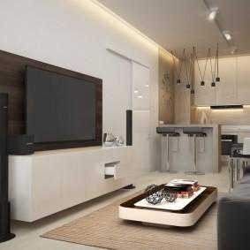 Белая отделка стен в малогабаритной квартире