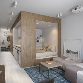 Обустройство спального места в однокомнатной квартире