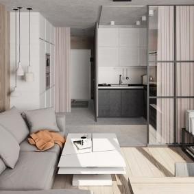 Зона отдыха с удобным диваном