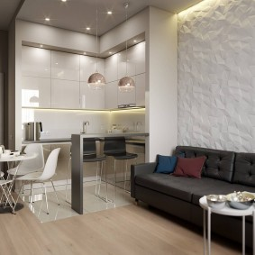 Отделка 3D-панелями стены в квартире