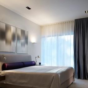 Пример отделки спальни в стиле минимализма