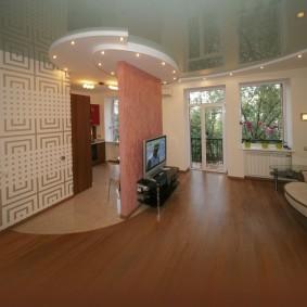 Декоративная перегородка в квартире свободной планировки