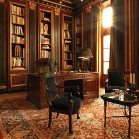 интерьер домашнего кабинета в стиле сталинской эпохи
