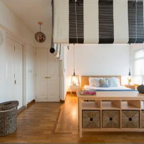 Спальная зона в квартире-студии