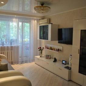Модульная мебель в небольшой гостиной