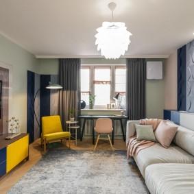 Эклектичный интерьер современной квартиры