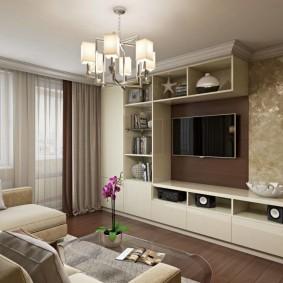 Встроенная мебель в двухкомнатной квартире