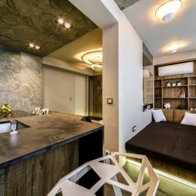 Спальное место на лоджии в однокомнатной квартире
