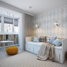 Кровать-диван с выдвижными ящиками