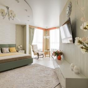 Красивая спальня после ремонта в квартире