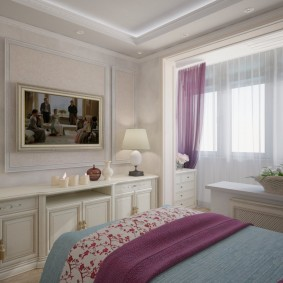 Интерьер небольшой комнаты в стиле классика