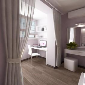Полупрозрачные шторы в спальной комнате