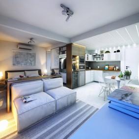 Планировка однокомнатной квартиры в новостройке