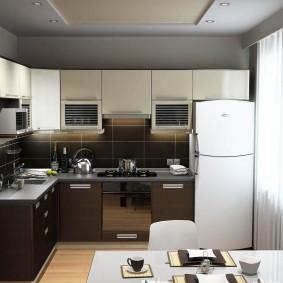 Угловая кухня в двухкомнатной квартире