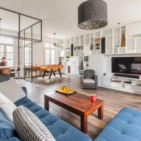 Дизайн большой квартиры студийной планировки
