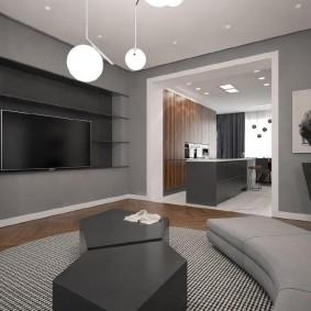 Меблировка комнаты в стиле минимализма