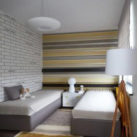 Дизайн небольшой спальни для двоих детей