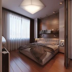 Навесные шкафы в спальной комнате
