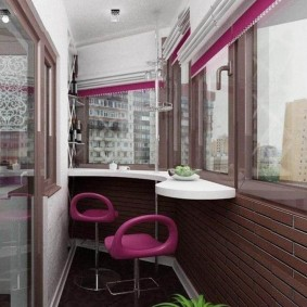 Дизайн балкона в современном стиле