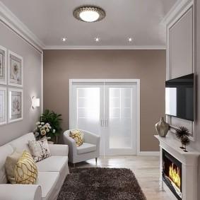Дизайн каминной зоны в гостиной комнате