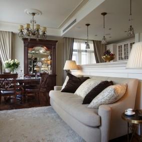 Интерьер квартиры в стиле американской неоклассики
