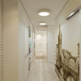 Светлый коридор небольшой ширины