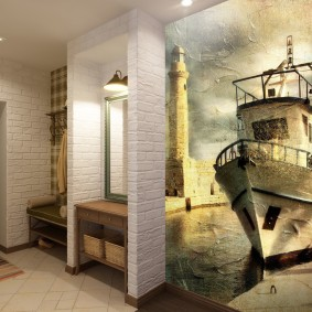 Дизайн прихожей комнаты в ретро стиле
