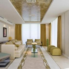 Комбинированный потолок с двумя уровнями