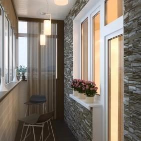 Дизайн утепленного балкона в современном стиле