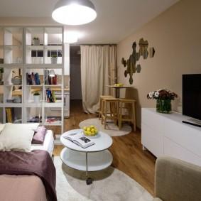 Освещение небольшой однокомнатной квартиры