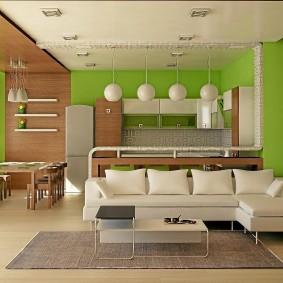 Зонирование квартиры отделочными материалами