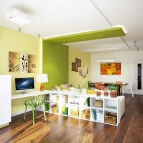 Деревянный пол в однокомнатной квартире