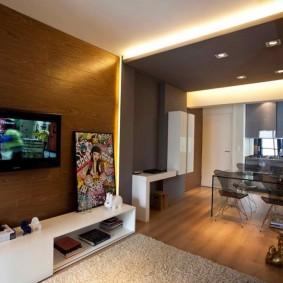 Декоративное освещение в однокомнатной квартире