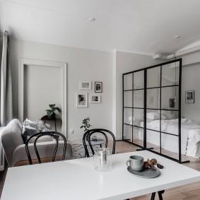 Квартира-студия в белом цвете