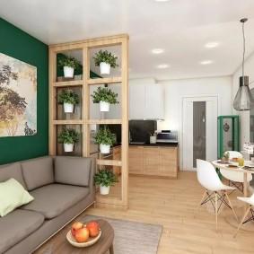 Эко-стиль в интерьере небольшой квартиры