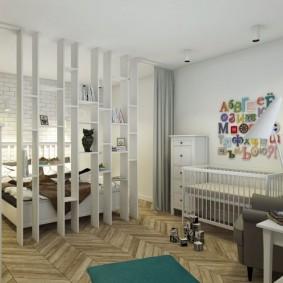 Детская зона в общей комнате