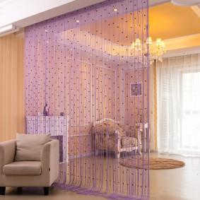 Кисея в интерьере современной квартиры